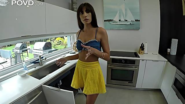 Cute wife material Dana Wolf gonna be banged doggy style sensually