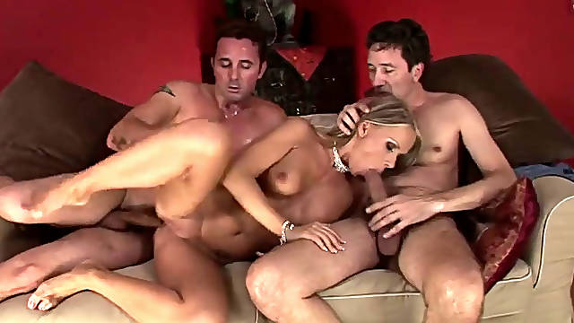 Vivien B gets banged by David Perry and Steve Holmes