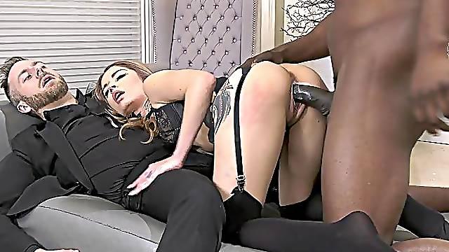 Interracial dicking with a big black dude & Vanessa Vega - HD