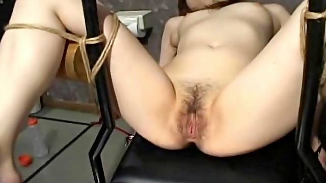 Japanese slave slut gets her wet pussy teased