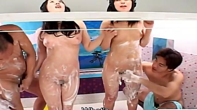 Crazy JAV reverse glory hole bathhouse prank Subtitles