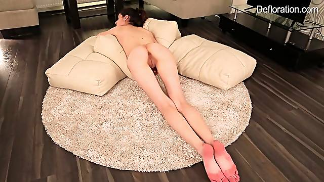 Skinny 18 year old in lingerie gets naked for you