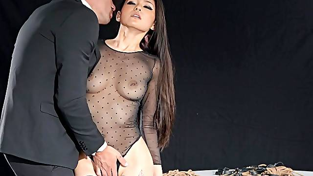 Asian with thin forms, crazy hard sex in addictive tryout