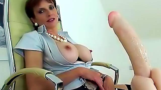 Big nipples of a horny milf stick up