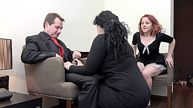 Sleazy mature shares cock with her niece in impossible XXX