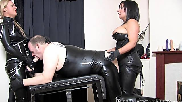 Nasty BDSM sex with sluts Mistress Athena and Mistress R'eal