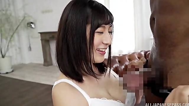 Japanese loves the BBC causing her so much pleasure