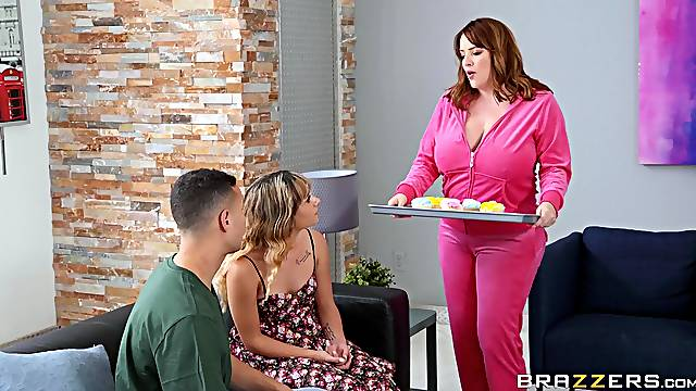 Filthy stepmother Maggie Green seduces daughter's boyfriend