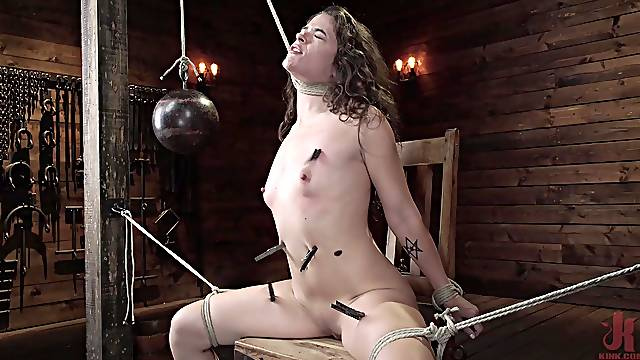 Sweetie falls exhausted after a merciless BDSM play