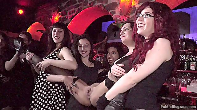 Upper floor party gets naughty and wild for a few sluts