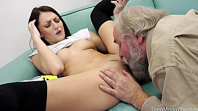 Sultry Katy Rose gives an old gentleman the lay of his life