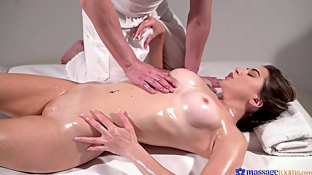 Massage leads energized woman to a passionate XXX tryout