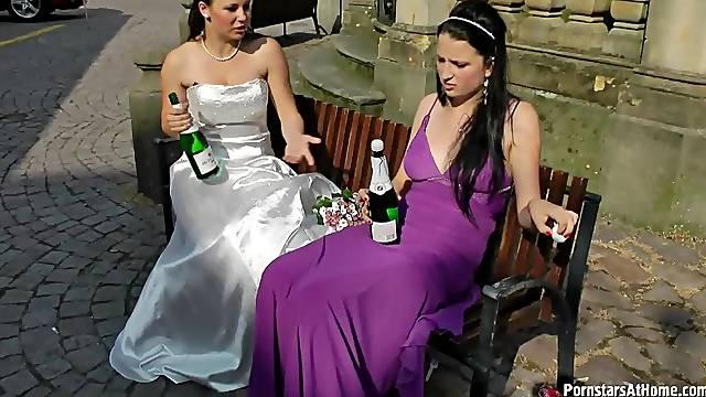 New bride and hottie fool around