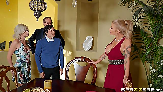 Energized MILF gets intimate with her daughter and her boyfriend