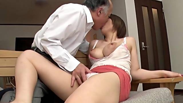 Old man fucks busty Japanese doll in crazy XXX scenes