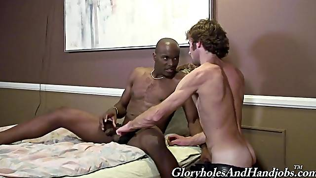Black dude shows his gay white lover the real lust