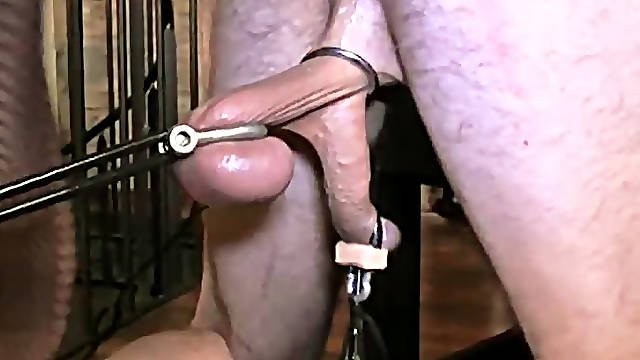 Masked submissive takes hard strapon fuck
