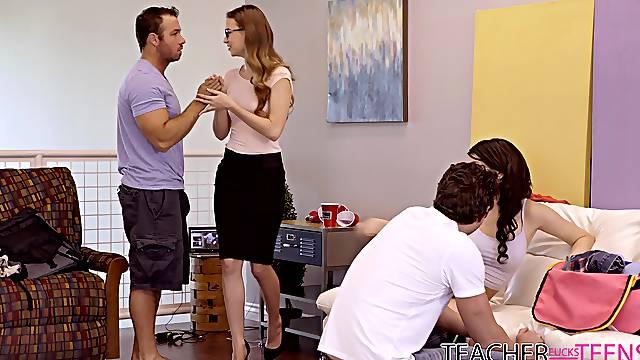 Aroused women decide to swap partners