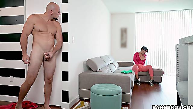Latina MILF maid getting dicked by her boss - Rose Monroe
