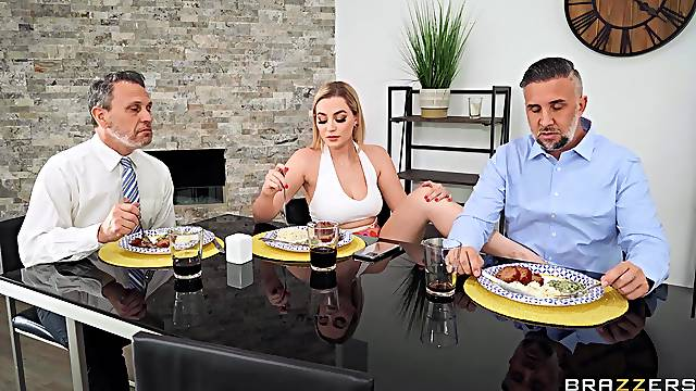 Wife gets intimate with hubby's  business partner