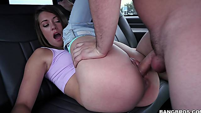 Fucking in the bang bus with adorable Kirsten Lee and a stranger