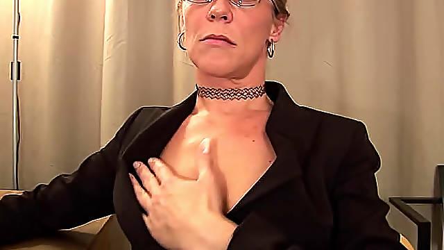 Mature secretary fucked in office