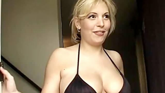 Pregnant beauty in a bikini fucked