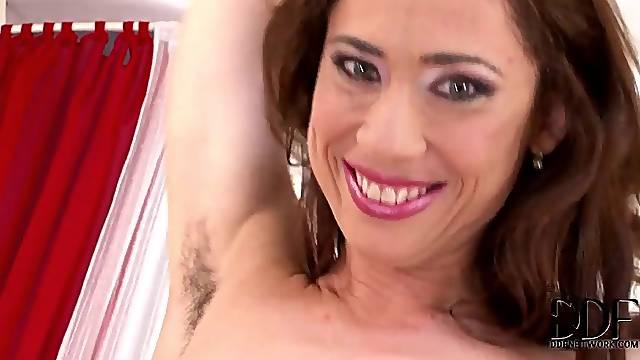 Hairy armpits and pussy girl fucked hard