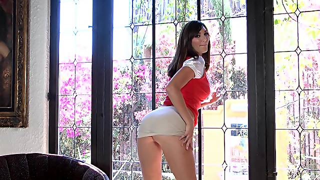 Holly Michaels solo striptease is sexy