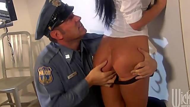 Criminal Alektra Blue police fuck
