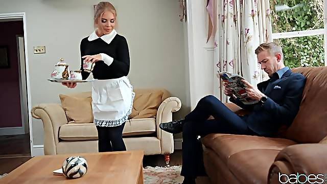 Maid pleases her master with elegant porn
