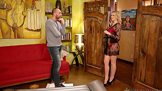 Best massage sex with sophisticated blonde masseuse Kenzie Taylor