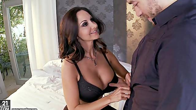 big butt milf Ava Addams adores jumping on her friend's dick while she moans