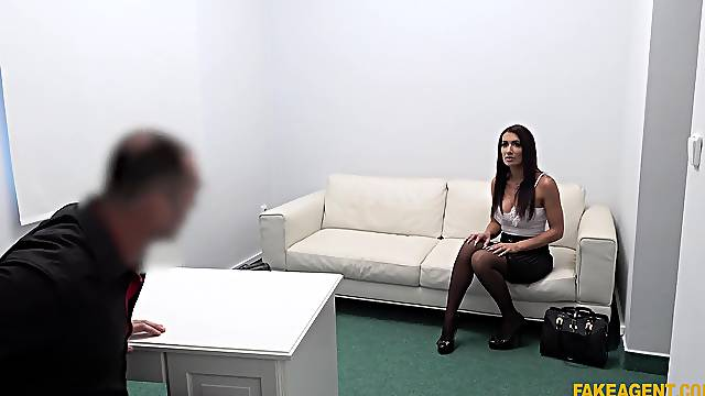 Casting European slut gets working from day one