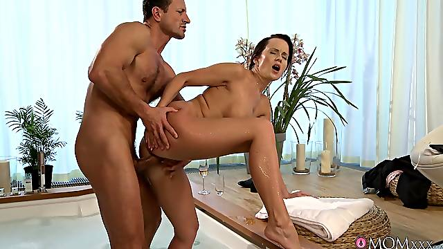 Muscular man fucks this wife when her man is not home