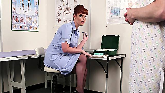 Female nurse is in for a treat