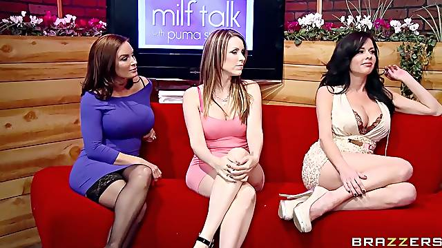 Wives get the dick on live show and go nuts