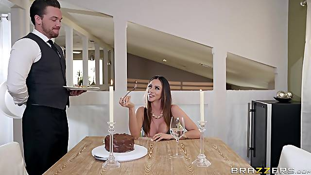 The butler is ready to offer this MILF the fuck of her life