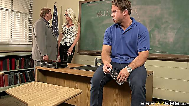 Sexy female teacher goes full mode on young student's cock