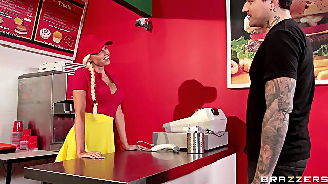 Sexual addiction with the hot fast-food worker