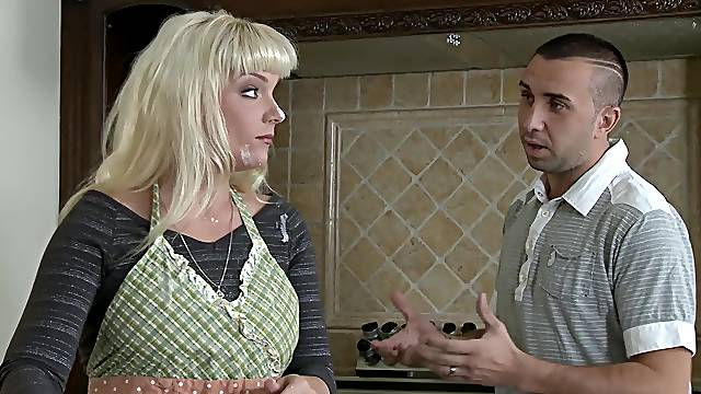 Flaming mature mom is in for a pretty big sexual surprise