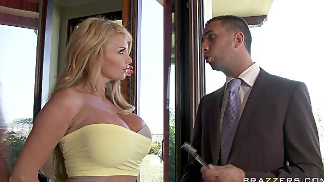 business man roughly fucks premium blonde MILF in fully exhaustive show