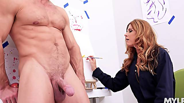 Artsy India Summer loves nothing more than gagging on a shaft