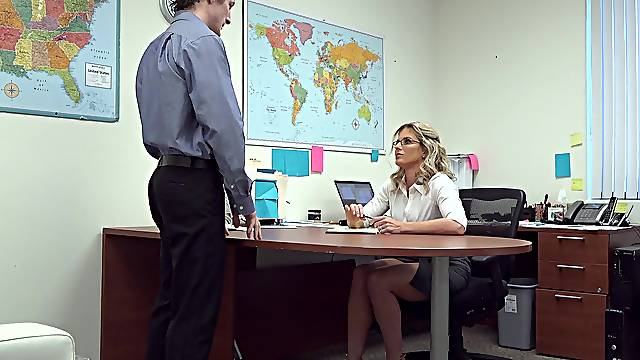 Cory Chase tries the new guy's big inches in a fabulous office tryout