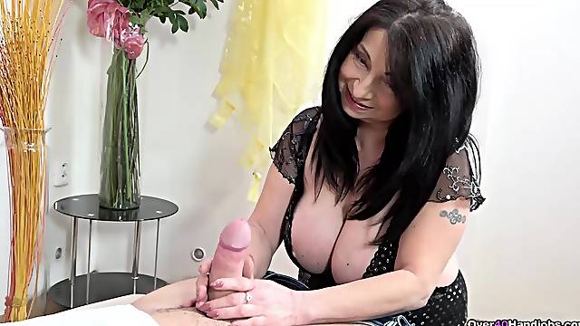 The way mommy rides and strokes cock proves that she is a slut indeed