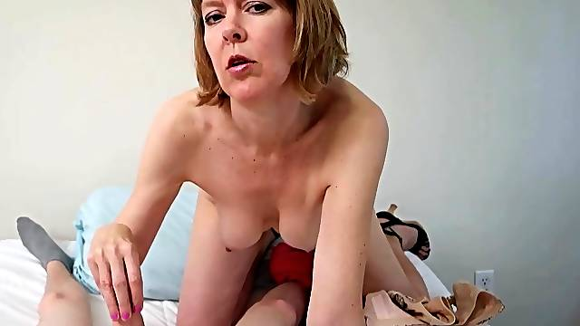 Insane POV shows auntie sucking dick naked and slutty aF