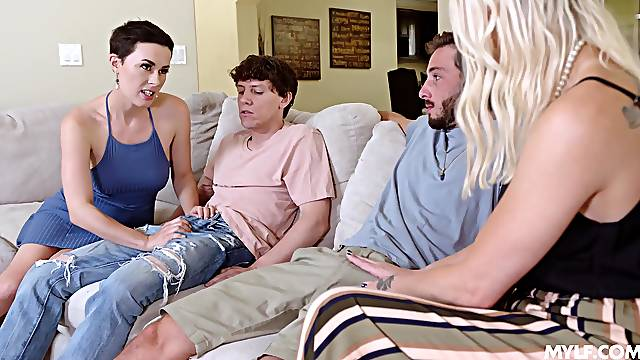 First time these lads experience mom swapping foursome porn