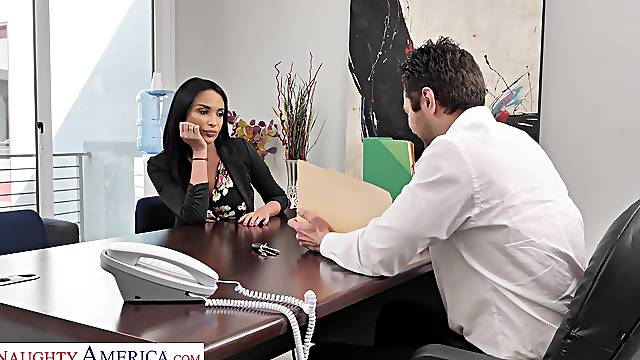 Office sex in the purest for with the new secretary