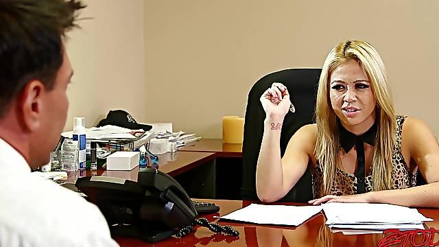 Harsh sex grants office MILF the best orgasm