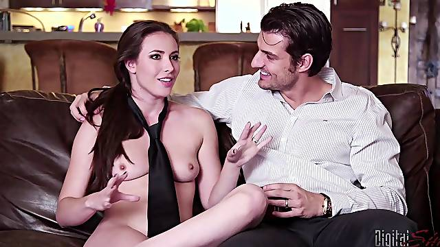 Casey Calvert gets blind folded and fucked right